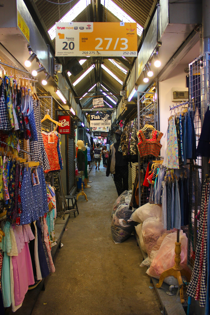 One of the sois in Chatuchak Market.