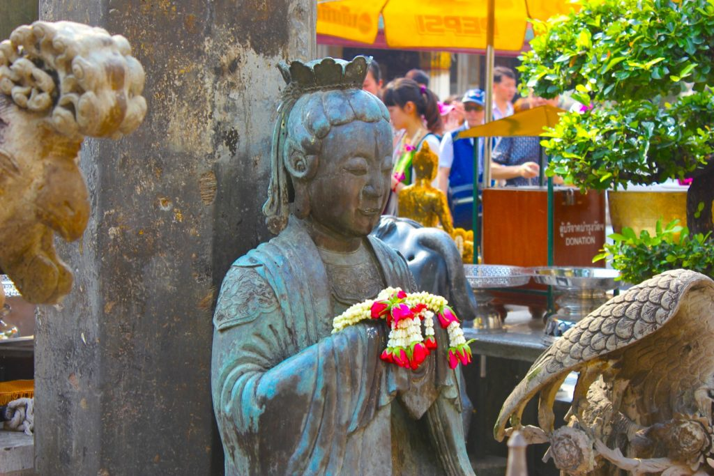 Locals worship smaller figures around the temple too.