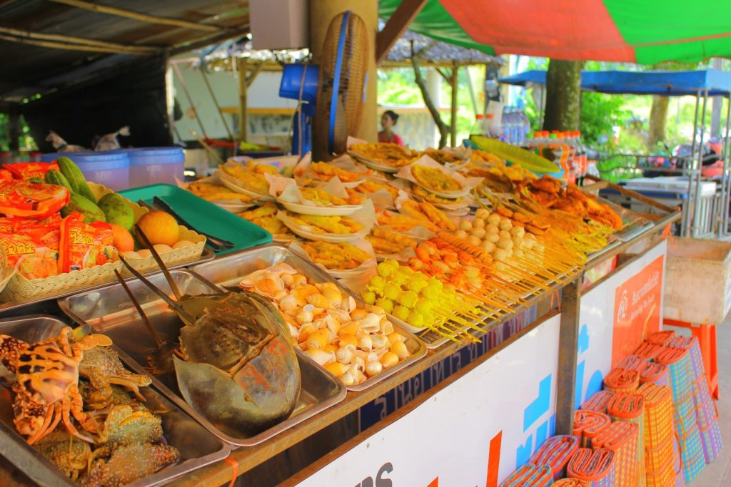 Seafood galore at street stall in Ao Nang.