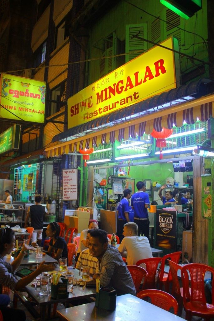 19th Street, Yangon is popular with locals looking to hang out, eat and talk.