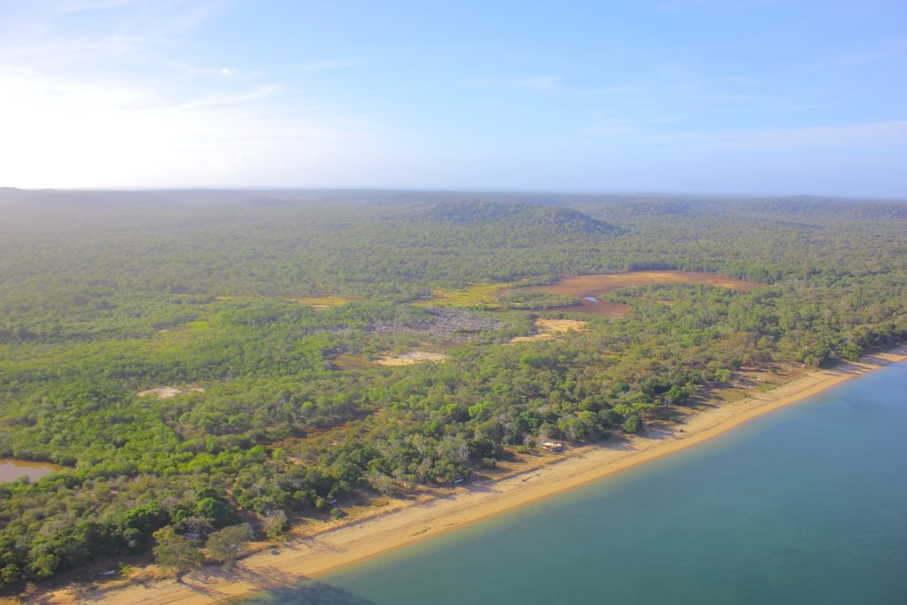 Spectacular views from the helicopter over Cape York. Queensland.